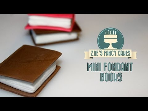 How to make mini fondant books for cake decorating How To Tutorial Zoes Fancy Cakes  YouTube