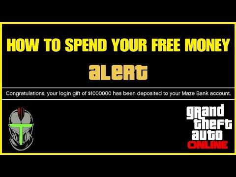 GTA 5 Online FREE BONUS MONEY How To Spend It
