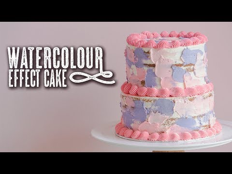 Watercolour Effect Cake Tutorial - Topless Baker