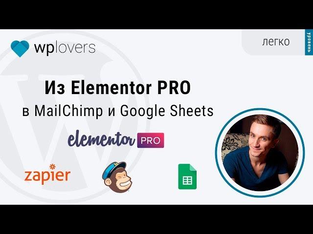 Из формы Elementor PRO в Google Таблицы и Mailchimp