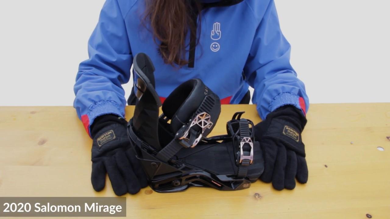 violación Montgomery magia  2019 / 2020   Salomon Mirage Snowboard Bindings   Video Review - YouTube