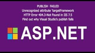 How to fix asp.net targetframework error