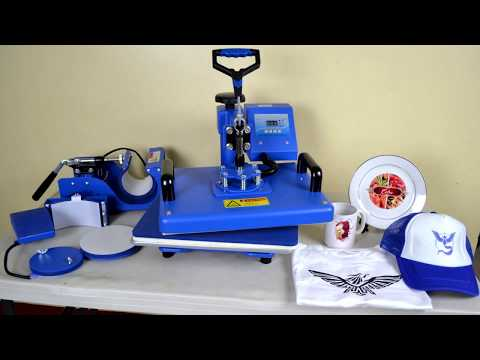 3cd71249 Sapphire 6-in-1 Heat Press Machine Tutorial - How to use Sapphire 6-in-1 Heat  Press Machine - YouTube