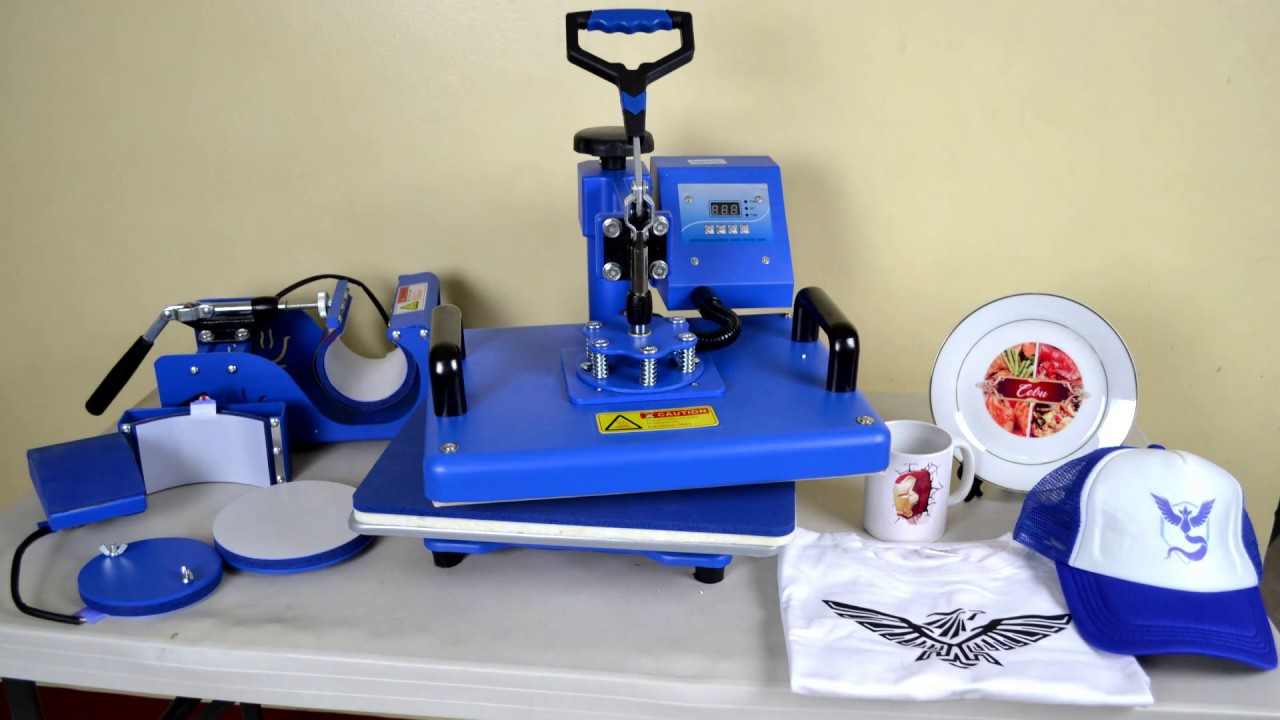 Sublimation Press 6 In 1 Sublimation Heat Press Machine Printing Tutorial