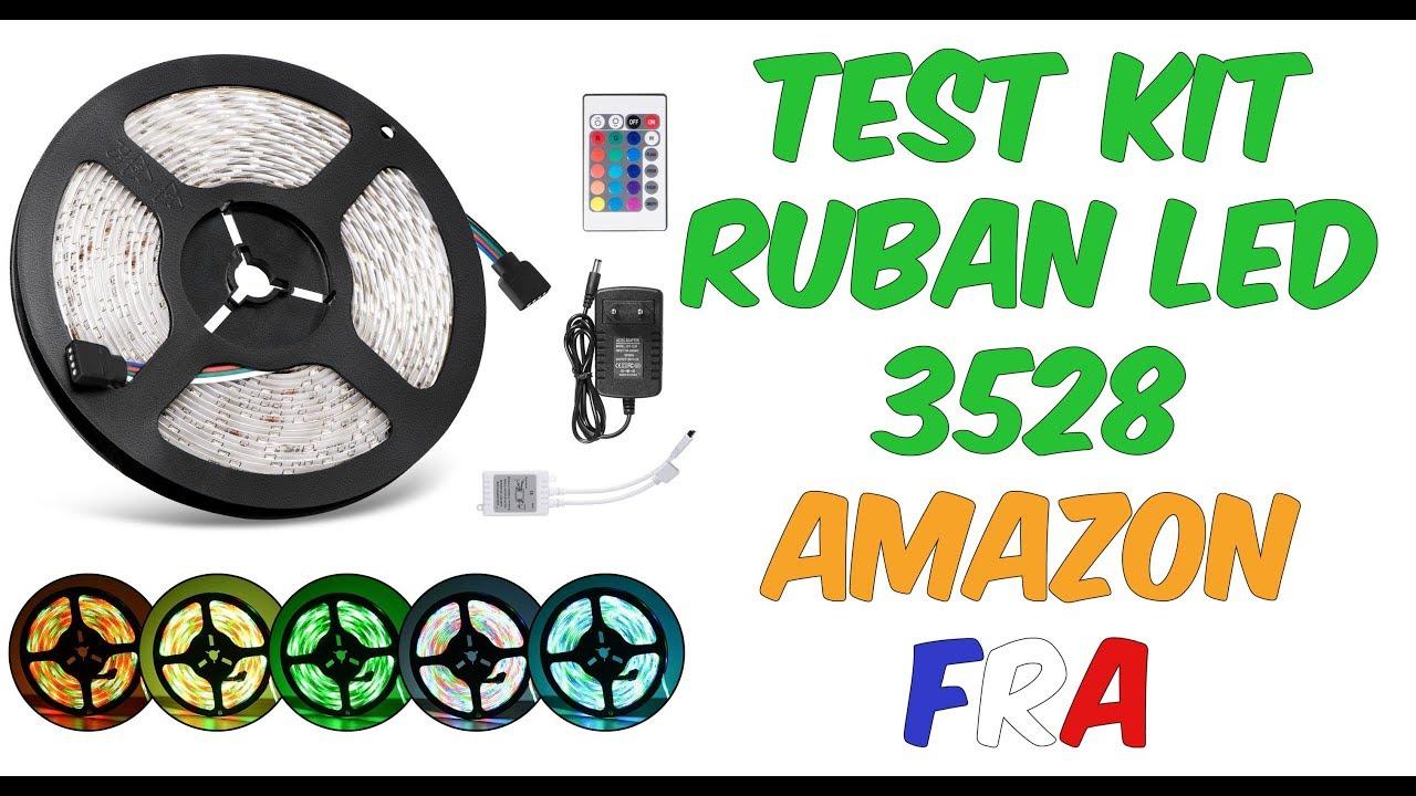 TEST KIT RUBAN LED 3528 - AMAZON -FR - YouTube