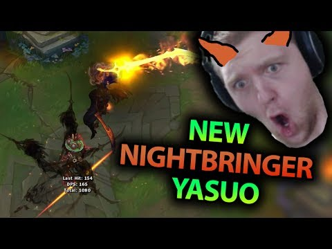 NEW NIGHTBRINGER YASUO SKIN GAMEPLAY! THIS IS BY FAR THE BEST YASUO SKIN EVER!! - League of Legends
