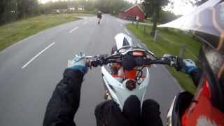 ktm exc 250 2t six days exc 525 wheelie stoppies and burning gopro ter