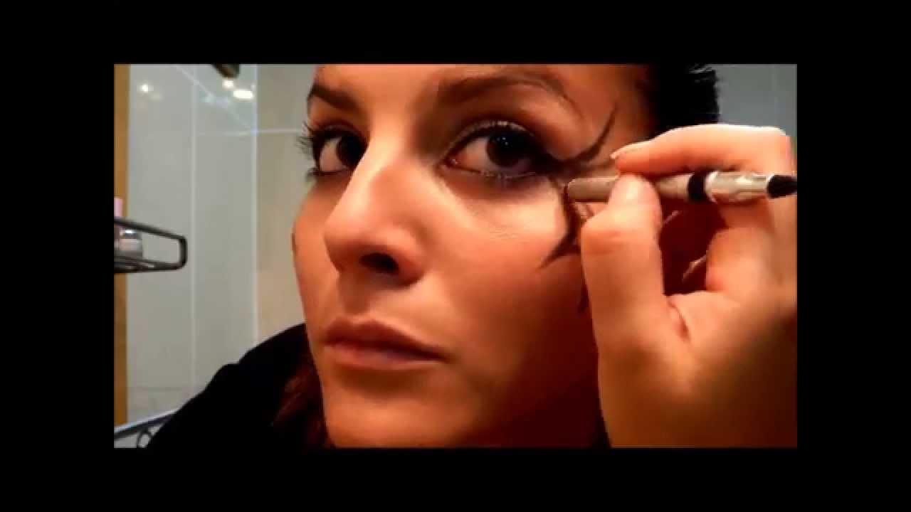 Videos De Maquillaje De Halloween.Maquillaje Halloween Telaranas En Los Ojos