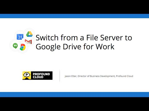 Switch from a File Server to Google Drive for Work