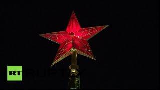 На Красной площади состоялась первая ночная репетиция парада Победы(В Москве прошла первая ночная репетиция парада, приуроченного к 70-летию победы в Великой Отечественной..., 2015-04-30T06:23:15.000Z)