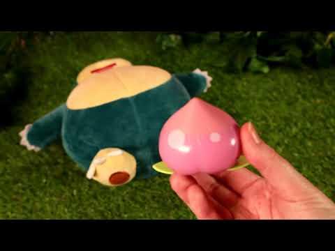 Pokemon - Snooze Action Snorlax Plush - Video