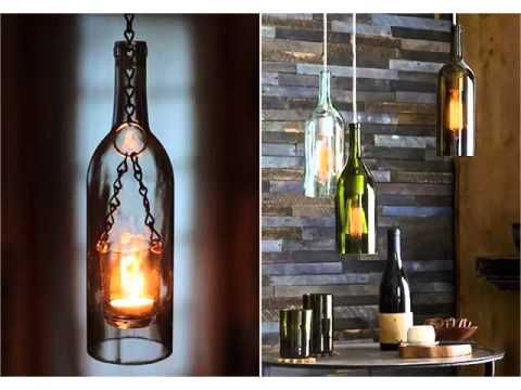 Empty Wine Bottle Craft Ideas | Decor Pictures Ideas for christmas & festival season