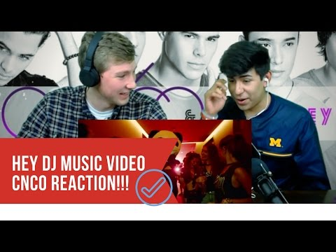 REACTION to Hey DJ by CNCO (Official Video) Reacción