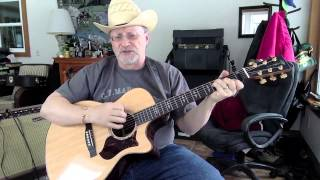 1454 -  Three Wooden Crosses -  Randy Travis cover with guitar chords and lyrics