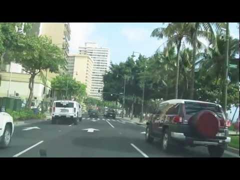 Waikiki Drive Kalakaua Avenue Ala Wai Boulevard Kuhio Avenue Honolulu Oahu Hawaii