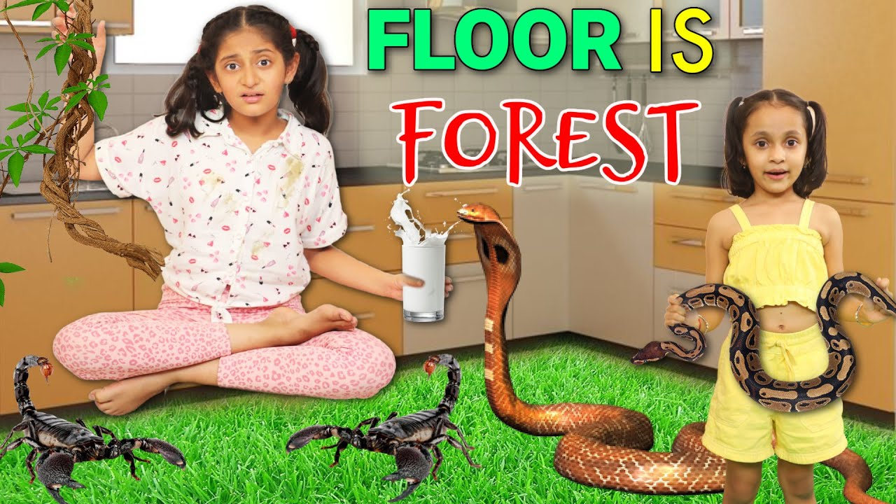 24 Hours Floor Is Forest Challenge | MyMissAnand
