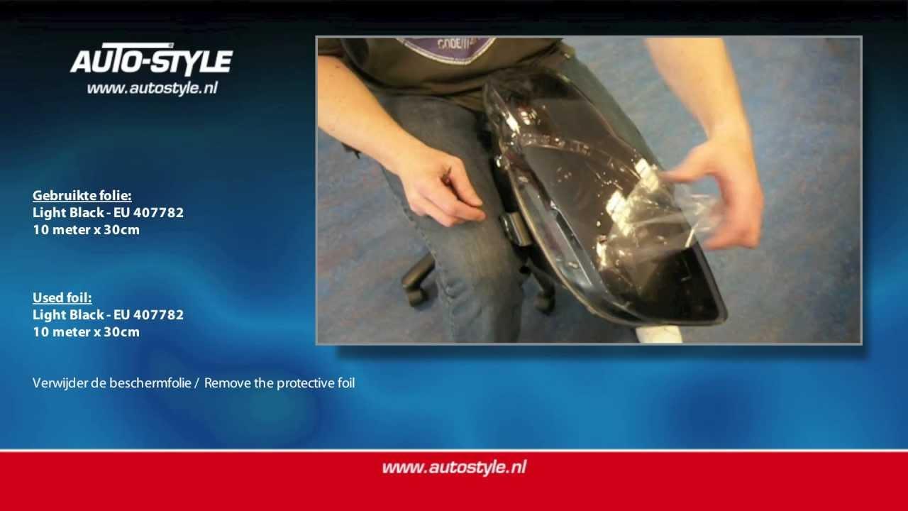 Led Lampen Folie : Plakken koplampfolie achterlichtfolie by autostyle youtube