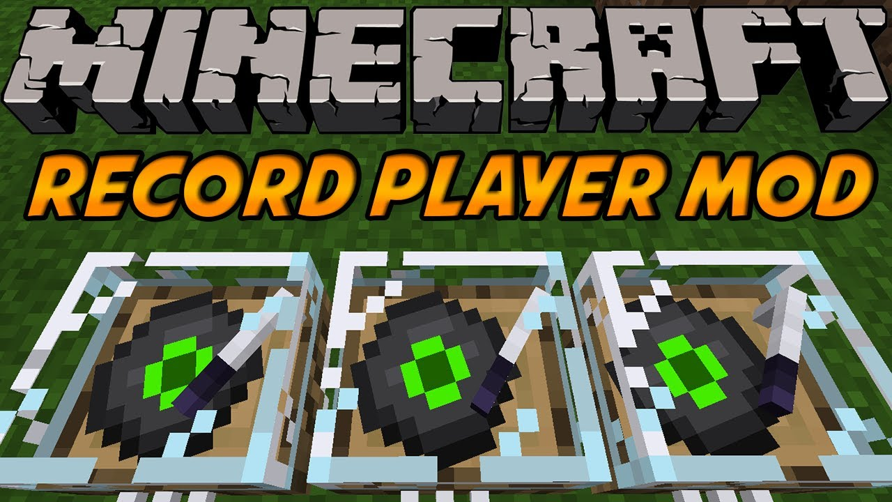 Minecraft Mods 3d Record Player Mod Spinning Animation 147