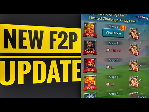 Lords Mobile - New F2P Update - P2P Heroes For Free!