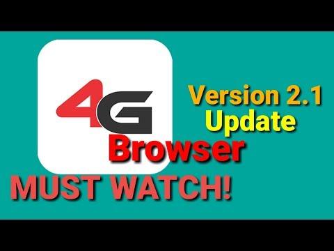 4G Browser Version 2.1 Update