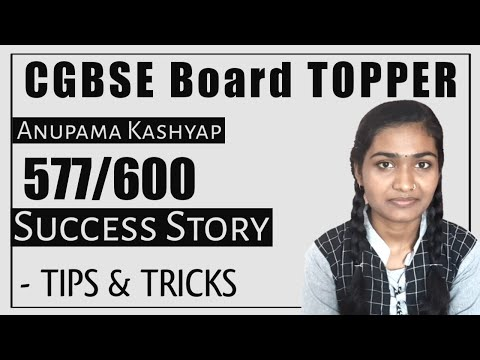 HOW TO SCORE 95+ IN BOARD EXAM 2021 | CGBSE TOPPER SHARING HER SCERET | INTERVIEW BY CGBSE SUPPORT