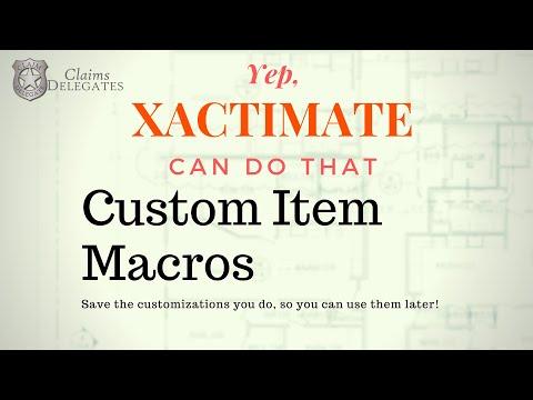 Xactimate Macro For Custom Items Youtube