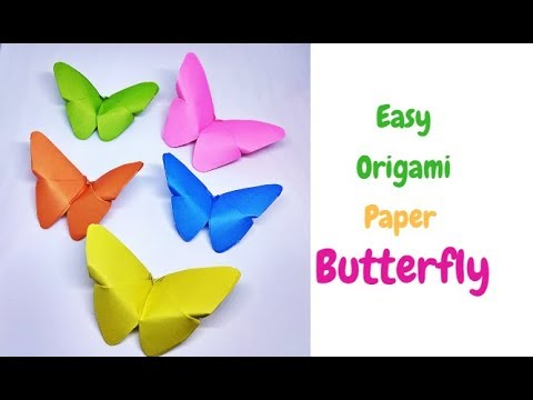 Origami Animals : How to Make an Origami Butterfly | Paper Butterfly | Diy Room Decor || Craftastic