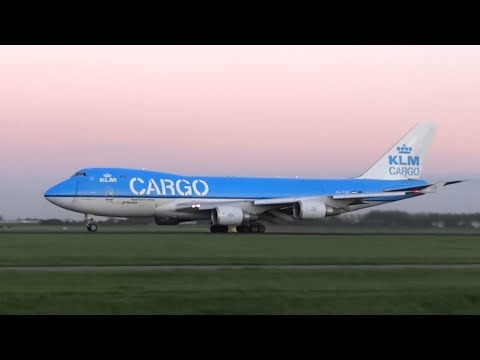 KLM Cargo B747-400F takeoff from Amsterdam Airport!