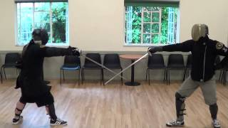 Sparring and competition with Schola Gladiatoria historical fencing