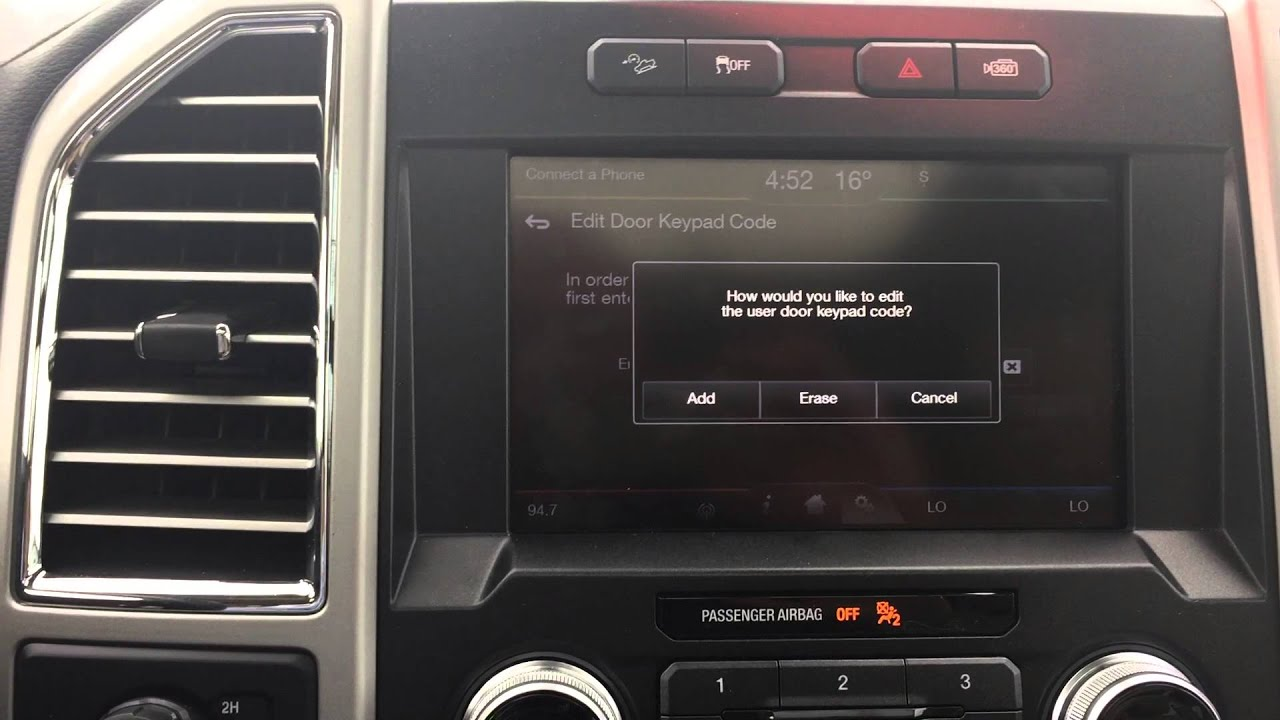 How to change the keypad entry code on ford vehicles