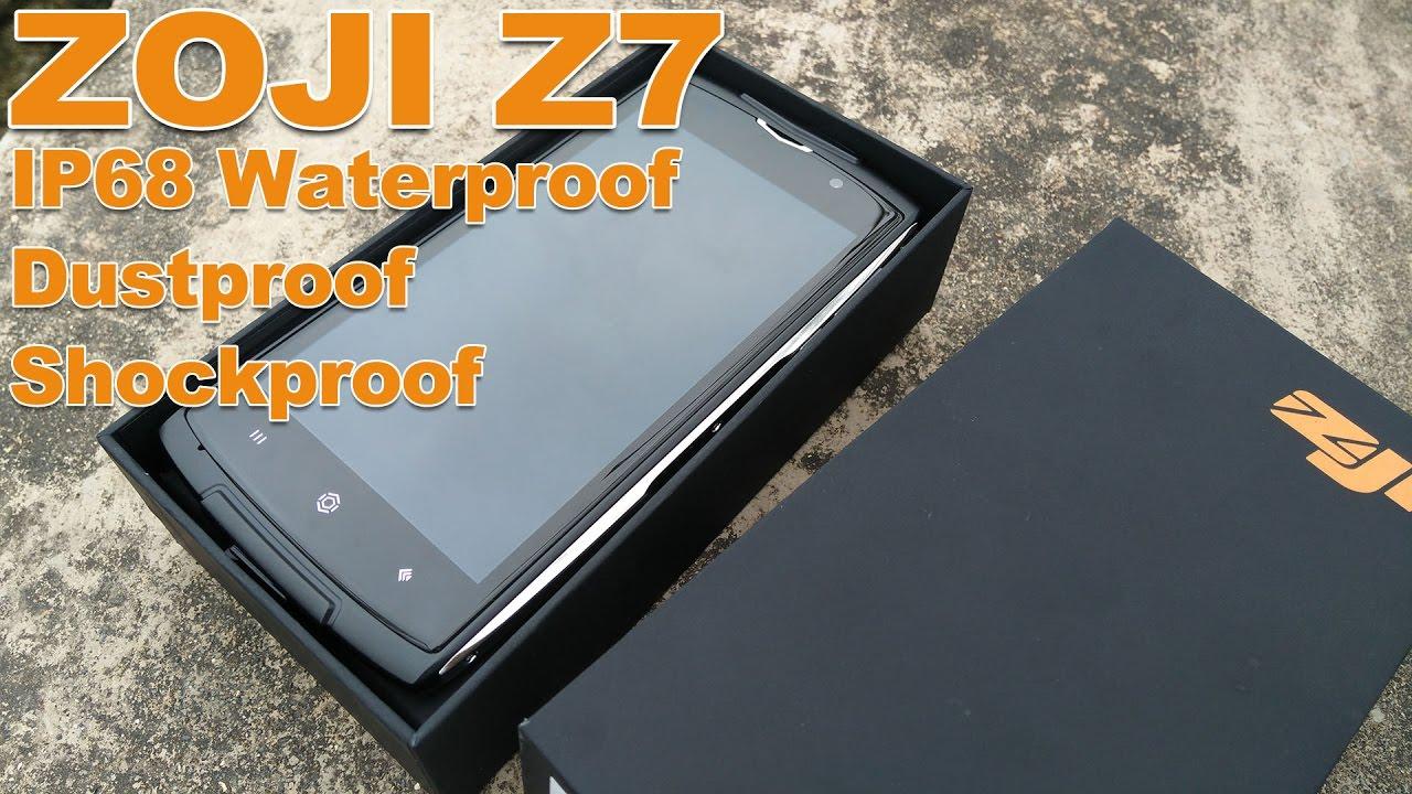 ZOJI Z7 Review Video   IP68 Waterproof U0026 Dustproof U0026 Shockproof Smartphone
