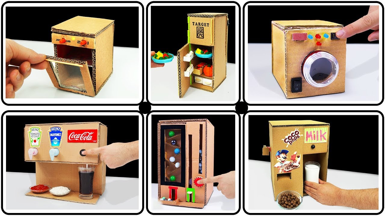 Top 10 Amazing Ideas And School Projects From Cardboard Youtube