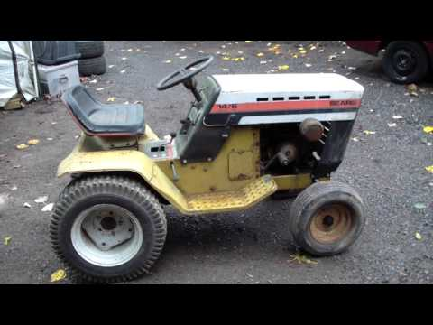New 1977 Classic Vintage Sears 14/6 Garden Tractor!!