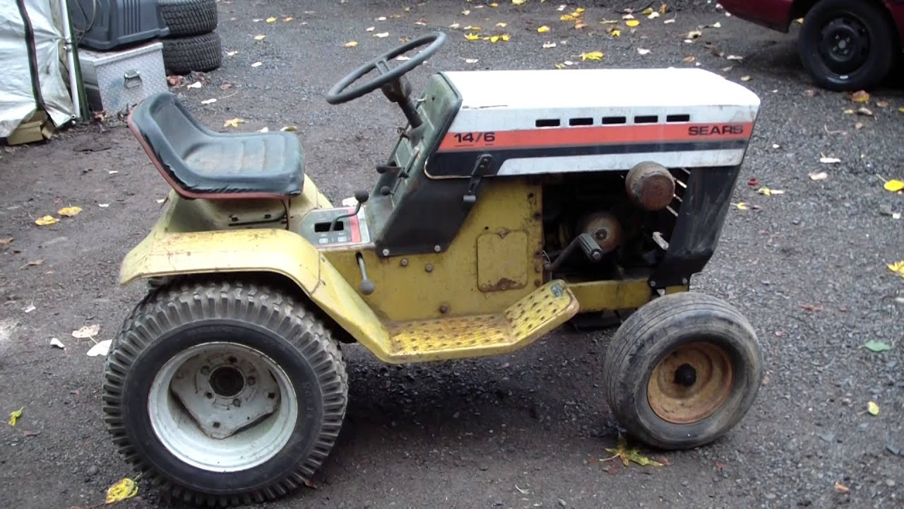 New 1977 Classic Vintage Sears 146 Garden Tractor YouTube