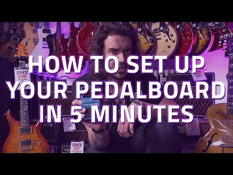 How To Set Up Your Pedalboard in 5 Minutes