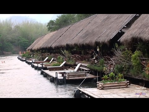Thailand River Kwai Jungle Rafts Floating Hotel Kanchanaburi