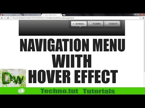 Navigation For Web Page | Dreamwaver CC Tutorial -2