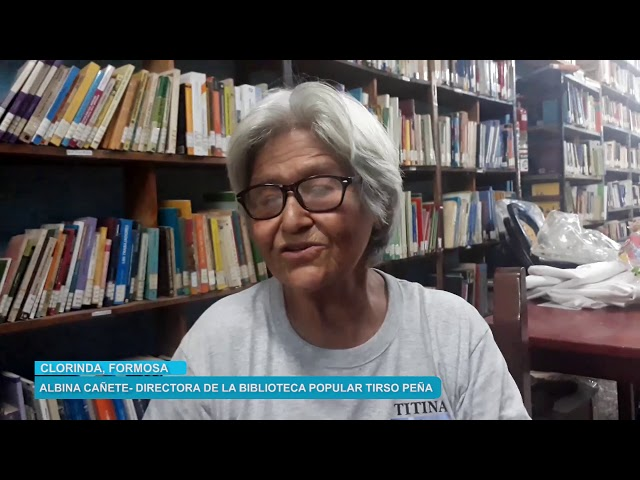 Titina, Directora de la Biblioteca Tirso Peña, de Clorinda