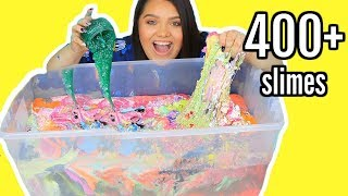 Mixing 400+ Slimes! GIANT SLIME SMOOTHIE