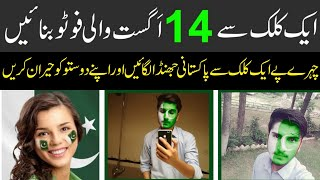 Flag face Dp For Facebook On Pakistan independent day 2018