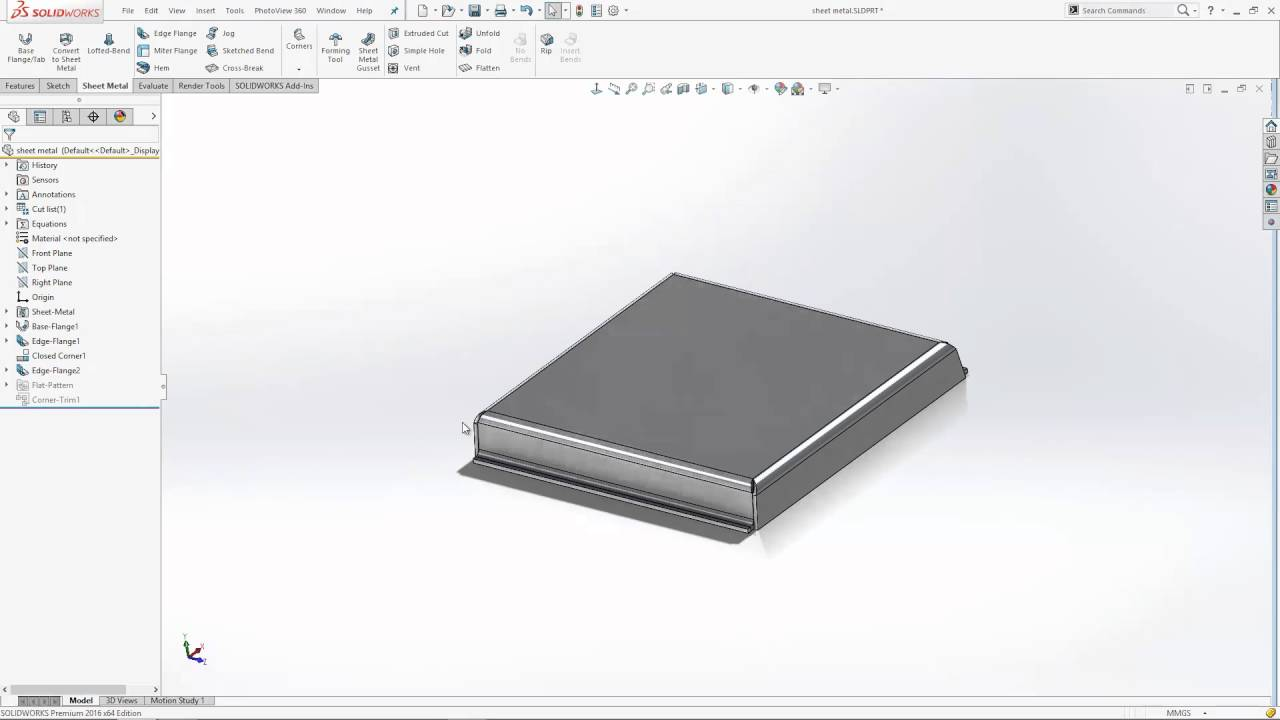 How To Add Corner Reliefs In Solidworks Sheet Metal Models