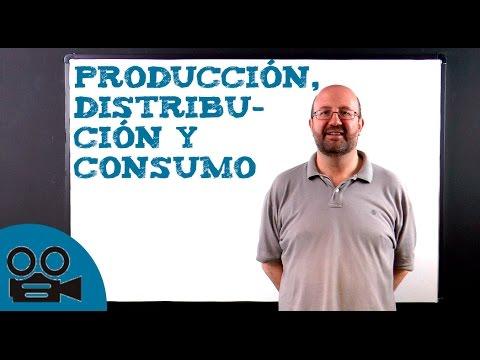 Producción, distribución y consumo