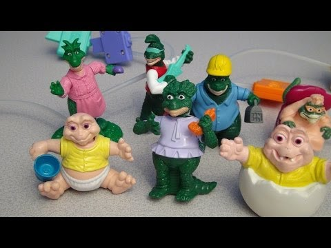 DISNEY'S DINOSAURS 1993 MCDONALD'S HAPPY MEAL TOY COLLECTION VIDEO REVIEW