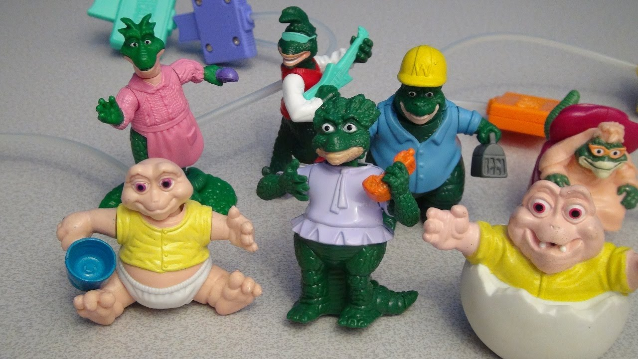 DISNEYS DINOSAURS 1993 MCDONALDS HAPPY MEAL TOY COLLECTION VIDEO REVIEW