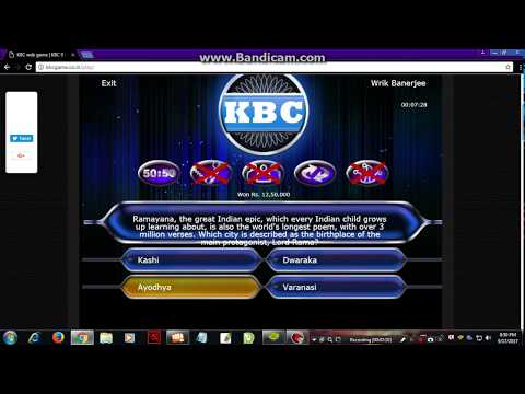 KBC Game Online Play (Kaun Banega Crorepati  Or Who Wants To Be A Millionaire) 2018  | Wrik's Videos