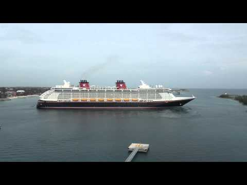 Disney Dream Arriving at Nassau - Viewed From The Disney Fantasy