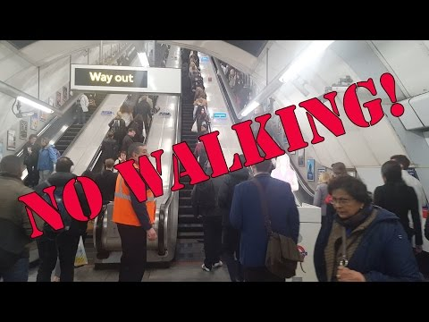 Six month 'standing only' escalator trial at Holborn begins
