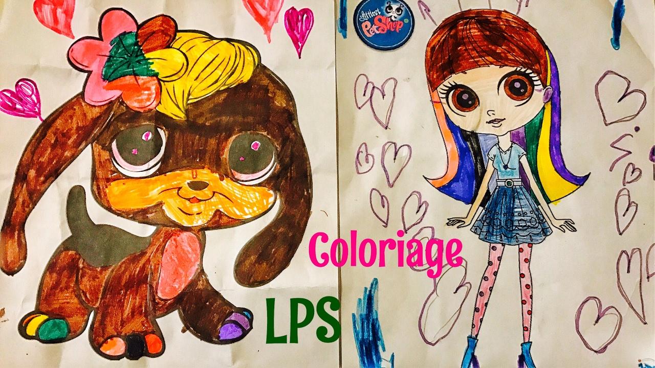 J 39 ai fini le coloriage chien lps blythe petshop colors - Chien pet shop ...