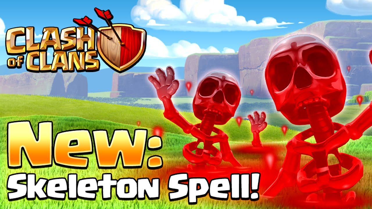 Clash of Clans - NEW SPELL! Skeleton Spell (New Update) - YouTube
