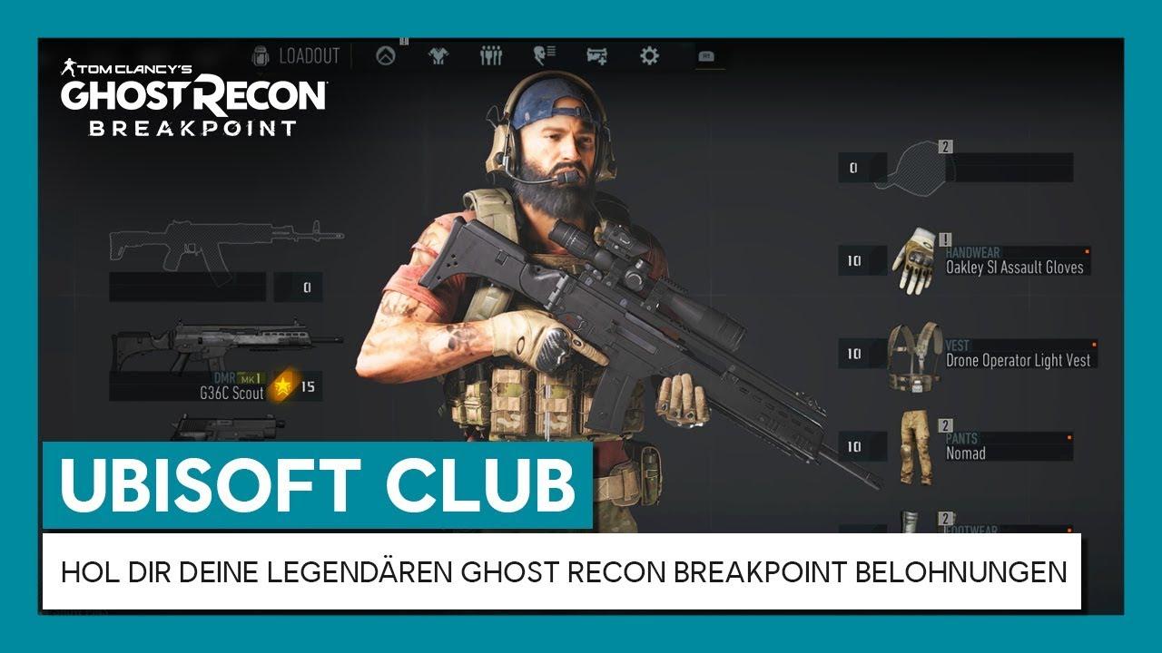 UBISOFT CLUB: HOL DIR DEINE LEGENDÄREN GHOST RECON BREAKPOINT BELOHNUNGEN | Ubisoft [DE]
